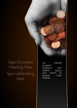 Fundraising Word Template, Cover Page, 11283, Careers/Industry — PoweredTemplate.com