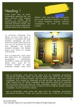 Child Room Design Word Template, First Inner Page, 11285, Careers/Industry — PoweredTemplate.com