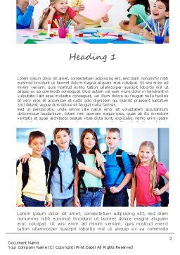 School Lessons Word Template First Inner Page