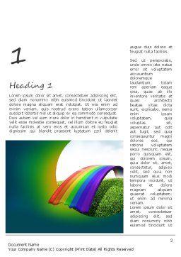 Rainbow Bridge Word Template First Inner Page