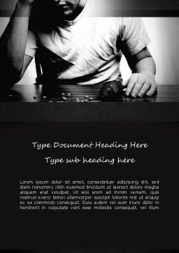 Drug Addiction Word Template, Cover Page, 11291, Medical — PoweredTemplate.com