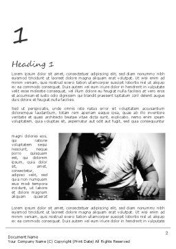 Drug Addiction Word Template, First Inner Page, 11291, Medical — PoweredTemplate.com