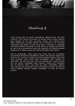 Drug Addiction Word Template, Second Inner Page, 11291, Medical — PoweredTemplate.com