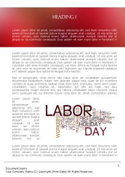 Labor Day Word Cloud Word Template, First Inner Page, 11292, Holiday/Special Occasion — PoweredTemplate.com