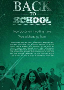 Welcome Back To School Word Template Cover Page