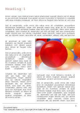 Colorful Balloons Word Template, First Inner Page, 11295, Holiday/Special Occasion — PoweredTemplate.com