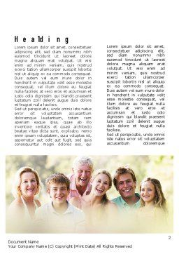 Happy Family Word Template, First Inner Page, 11297, People — PoweredTemplate.com