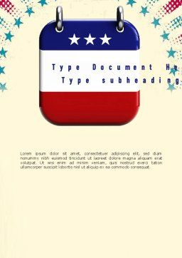 Labor Day Nameplate Word Template, Cover Page, 11298, Holiday/Special Occasion — PoweredTemplate.com