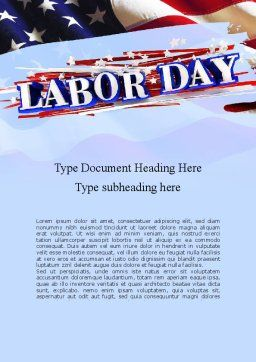 Happy Labor Day Word Template, Cover Page, 11300, Holiday/Special Occasion — PoweredTemplate.com