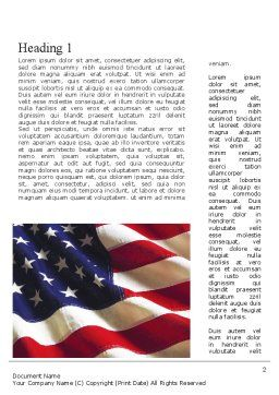 Happy Labor Day Word Template, First Inner Page, 11300, Holiday/Special Occasion — PoweredTemplate.com