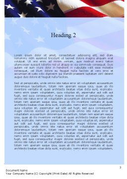 Happy Labor Day Word Template, Second Inner Page, 11300, Holiday/Special Occasion — PoweredTemplate.com