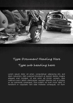 Auto Accident Word Template, Cover Page, 11301, Cars/Transportation — PoweredTemplate.com