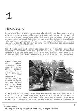 Auto Accident Word Template, First Inner Page, 11301, Cars/Transportation — PoweredTemplate.com