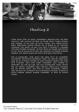 Auto Accident Word Template, Second Inner Page, 11301, Cars/Transportation — PoweredTemplate.com