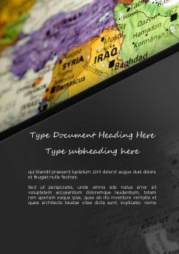Middle East Word Template, Cover Page, 11303, Flags/International — PoweredTemplate.com