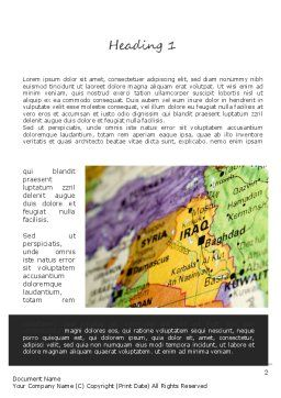 Middle East Word Template, First Inner Page, 11303, Flags/International — PoweredTemplate.com