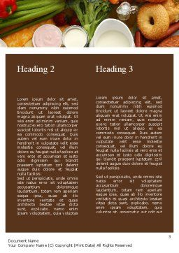 Abundance Of Food Word Template, Second Inner Page, 11305, Food & Beverage — PoweredTemplate.com