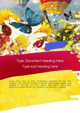 Mottled Colors Word Template Cover Page