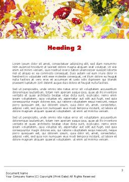 Mottled Colors Word Template Second Inner Page
