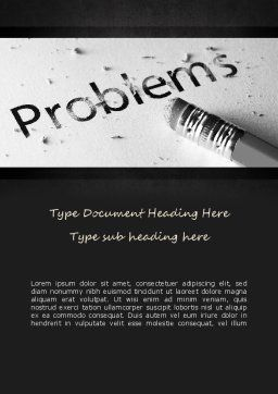Erasing Problems Word Template, Cover Page, 11307, Consulting — PoweredTemplate.com