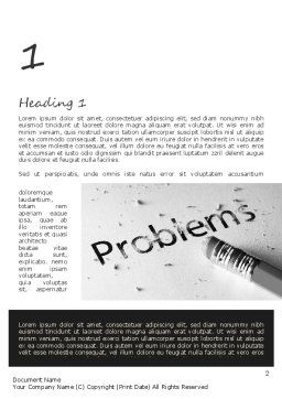 Erasing Problems Word Template, First Inner Page, 11307, Consulting — PoweredTemplate.com