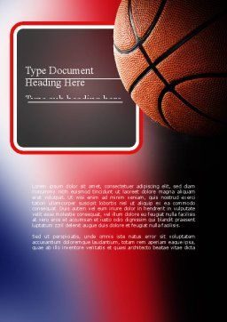 NBA Championship Word Template, Cover Page, 11310, Sports — PoweredTemplate.com