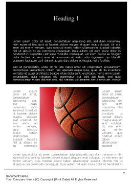NBA Championship Word Template, First Inner Page, 11310, Sports — PoweredTemplate.com