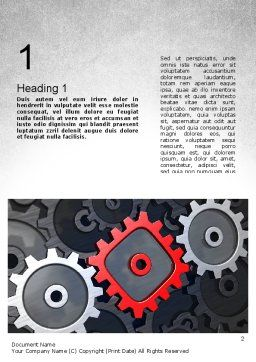 Square Gear Word Template, First Inner Page, 11312, Business Concepts — PoweredTemplate.com