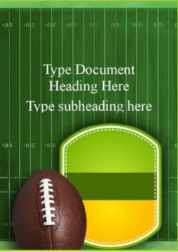 NFL Super Bowl Word Template, Cover Page, 11313, Sports — PoweredTemplate.com