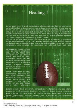 NFL Super Bowl Word Template, First Inner Page, 11313, Sports — PoweredTemplate.com