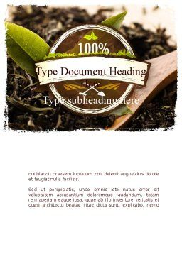 Flavored Tea Word Template, Cover Page, 11314, Food & Beverage — PoweredTemplate.com