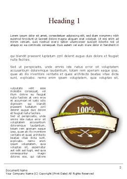 Flavored Tea Word Template, First Inner Page, 11314, Food & Beverage — PoweredTemplate.com