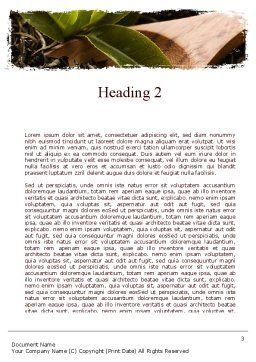 Flavored Tea Word Template Second Inner Page