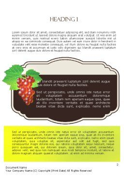 Wine Label Word Template, First Inner Page, 11316, Food & Beverage — PoweredTemplate.com
