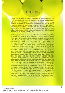 Wine Label Word Template, Second Inner Page, 11316, Food & Beverage — PoweredTemplate.com