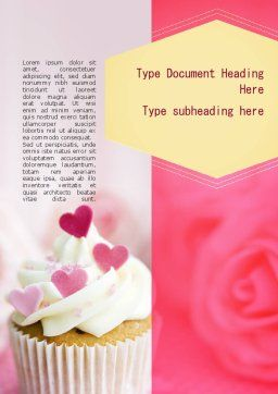 Happy Sweetest Day Word Template, Cover Page, 11317, Holiday/Special Occasion — PoweredTemplate.com