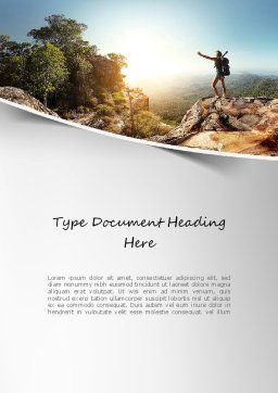 Adventure Word Template, Cover Page, 11319, Sports — PoweredTemplate.com