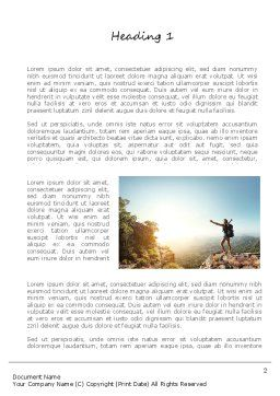 Adventure Word Template, First Inner Page, 11319, Sports — PoweredTemplate.com