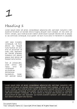 Jesus Cross Word Template, First Inner Page, 11321, Religious/Spiritual — PoweredTemplate.com