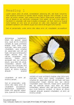 Butterfly on Sunflower Word Template First Inner Page