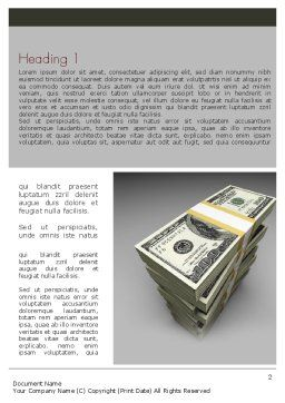 Pile of Money Word Template, First Inner Page, 11327, Financial/Accounting — PoweredTemplate.com