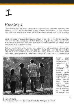 Family Life Word Template, First Inner Page, 11328, People — PoweredTemplate.com