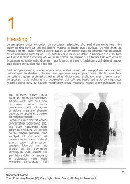 Makkah Kaaba Hajj Muslims Word Template First Inner Page