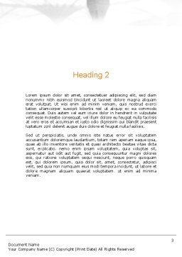 Makkah Kaaba Hajj Muslims Word Template Second Inner Page