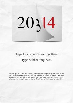 Tear-off Year Change Calendar Word Template, Cover Page, 11331, Holiday/Special Occasion — PoweredTemplate.com