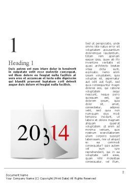 Tear-off Year Change Calendar Word Template, First Inner Page, 11331, Holiday/Special Occasion — PoweredTemplate.com