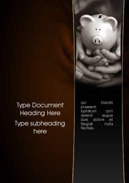 Family Wealth Word Template, Cover Page, 11335, Financial/Accounting — PoweredTemplate.com