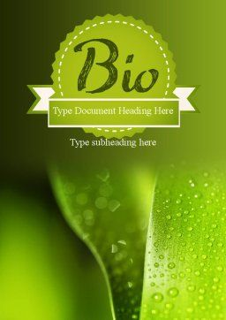 Drops of Dew on a Leaf Word Template Cover Page