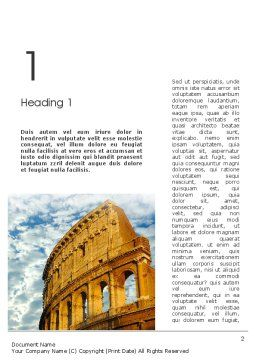 The Colosseum Word Template First Inner Page
