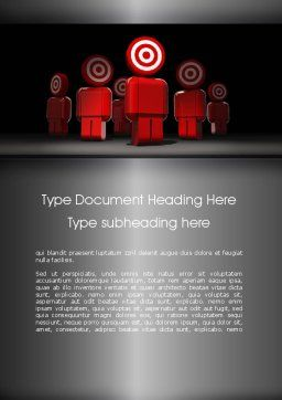 Consumer Target Word Template, Cover Page, 11341, Careers/Industry — PoweredTemplate.com